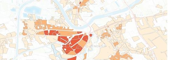 Warmtezoneringskaart Dendermonde